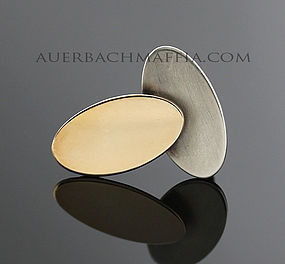 Betty Cooke Modernist Sterling and 14K Gold Ring