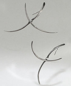 Art Smith Modernist Sterling Kinetic Earrings 1950