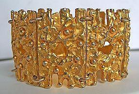 Robert Larin Modernist Goldtone Bracelet - Canada